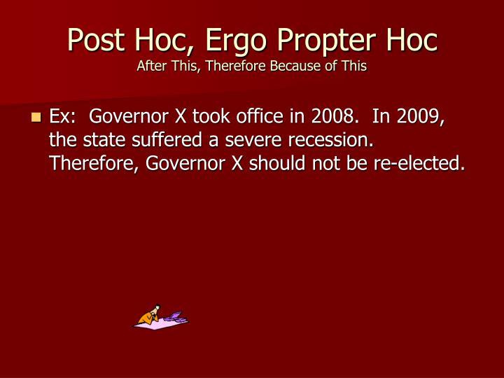 Post Hoc, Ergo Propter Hoc