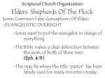 scriptural church organization elders shepherds of the flock19