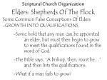 scriptural church organization elders shepherds of the flock20