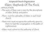scriptural church organization elders shepherds of the flock23