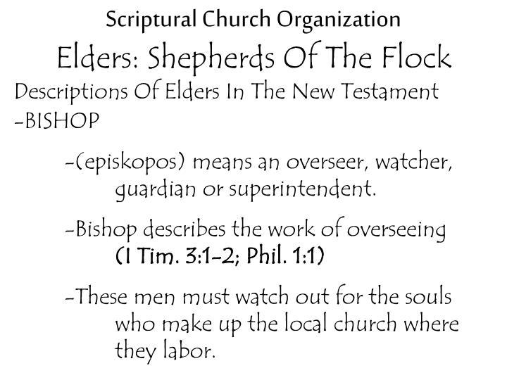 Scriptural Church Organization