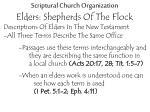 scriptural church organization elders shepherds of the flock6
