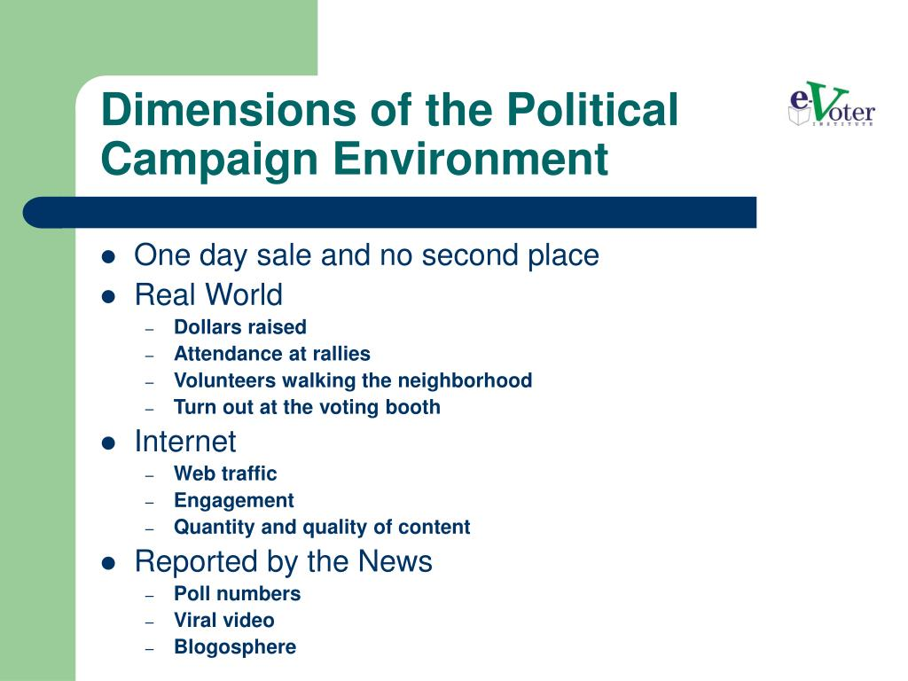 Dimensions of the Political Campaign Environment