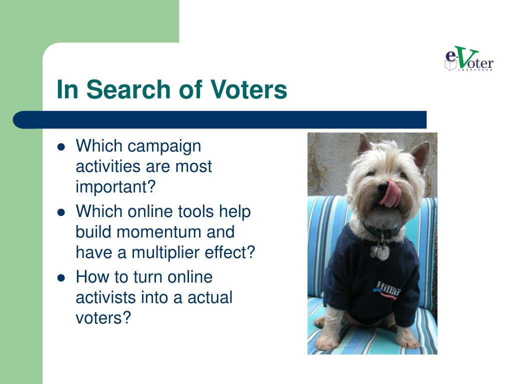 In Search of Voters
