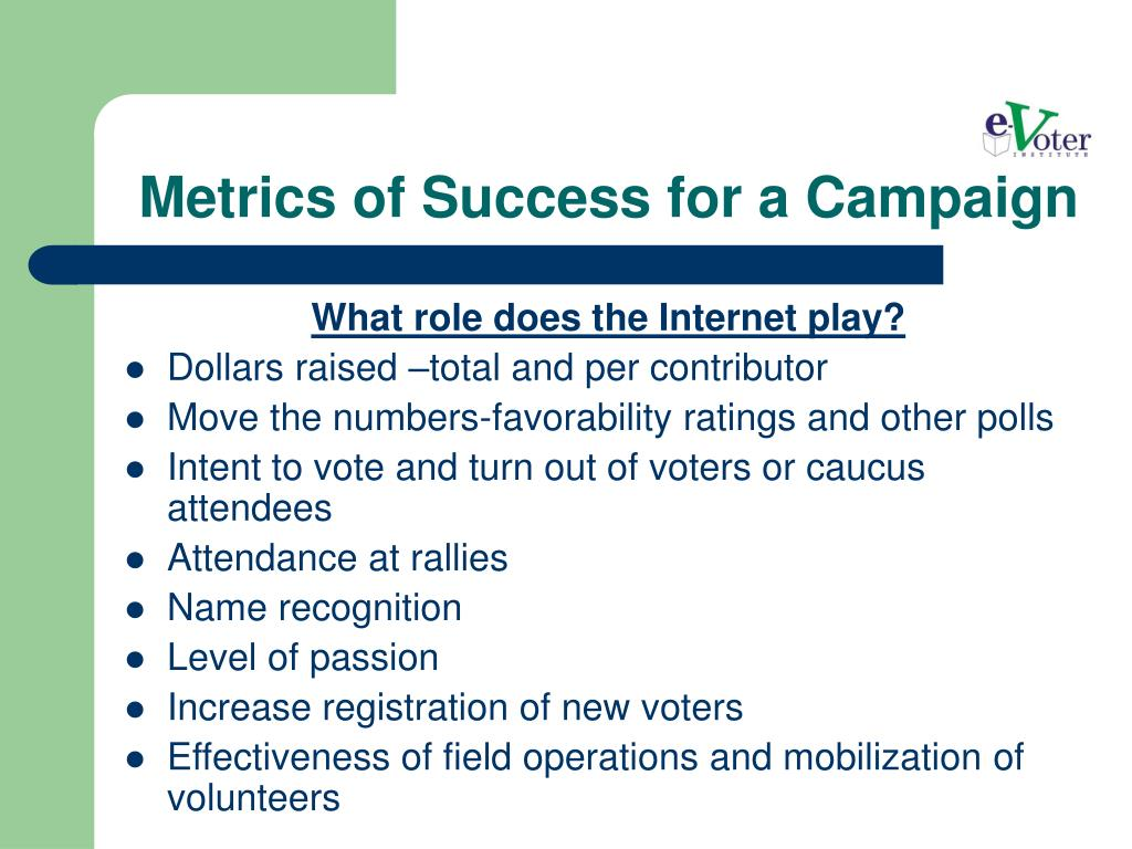 Metrics of Success for a Campaign