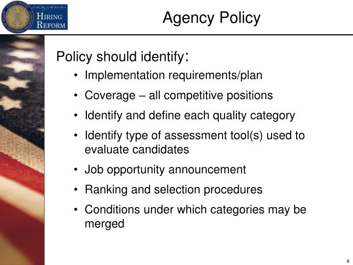 Policy should identify