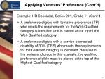 applying veterans preference cont d3