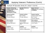 applying veterans preference cont d4