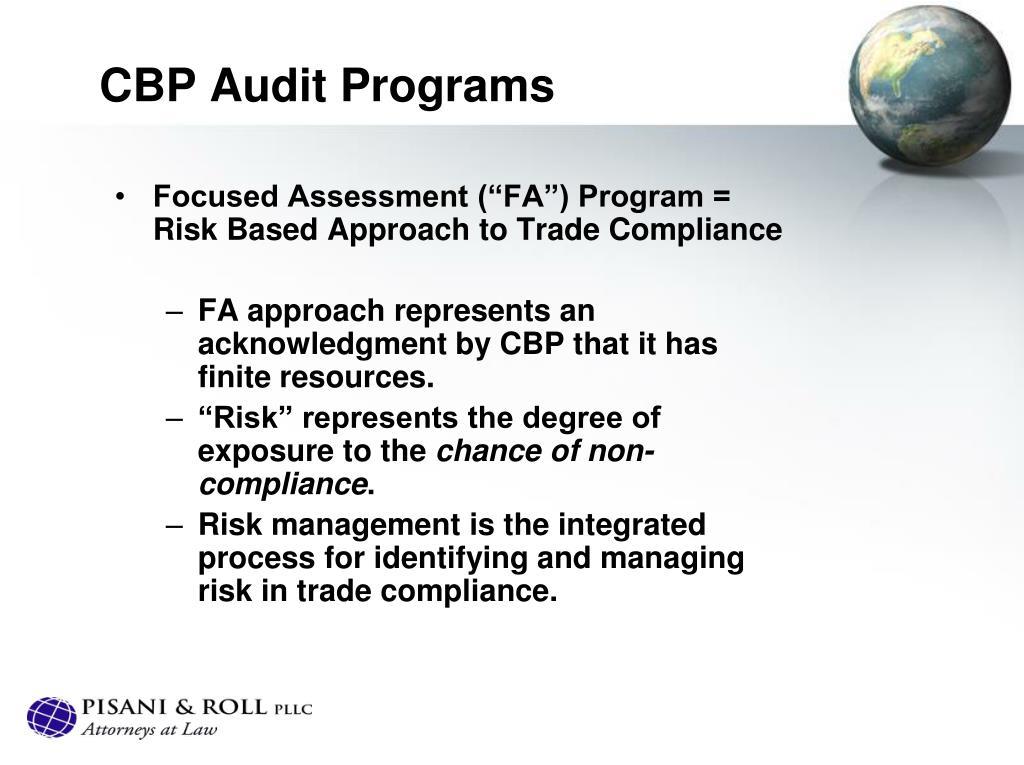 CBP Audit Programs