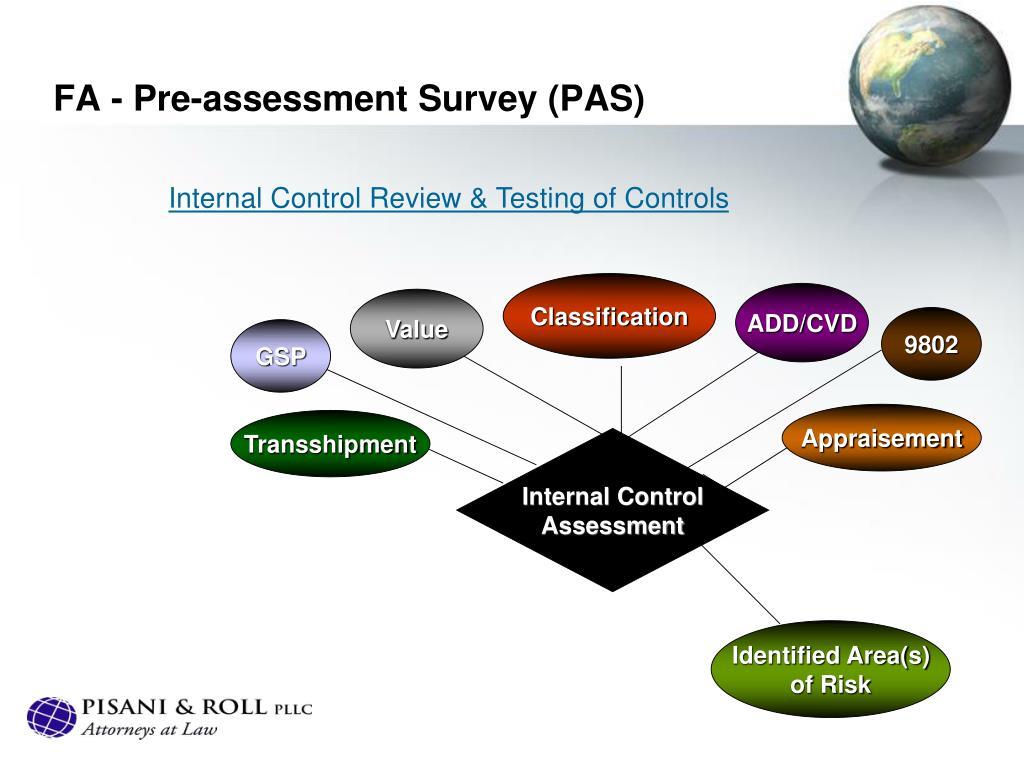 FA - Pre-assessment Survey (PAS)