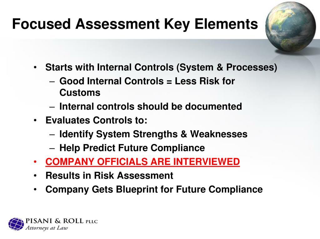 Focused Assessment Key Elements