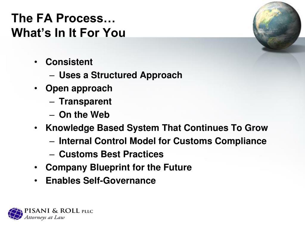 The FA Process…