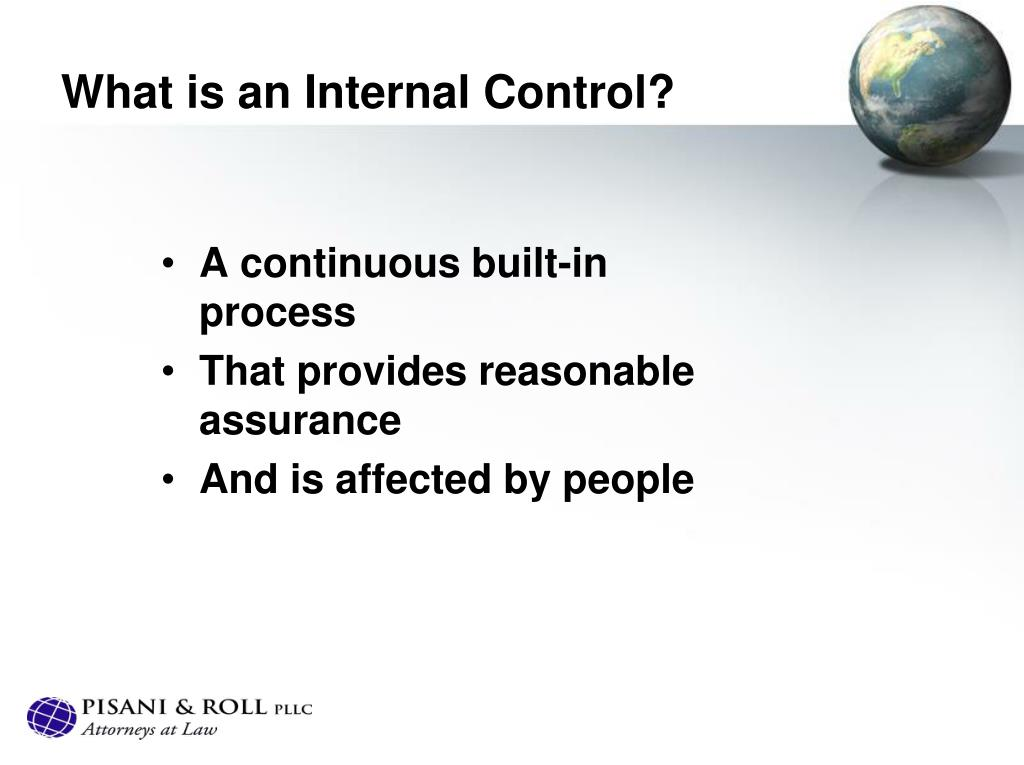 What is an Internal Control?