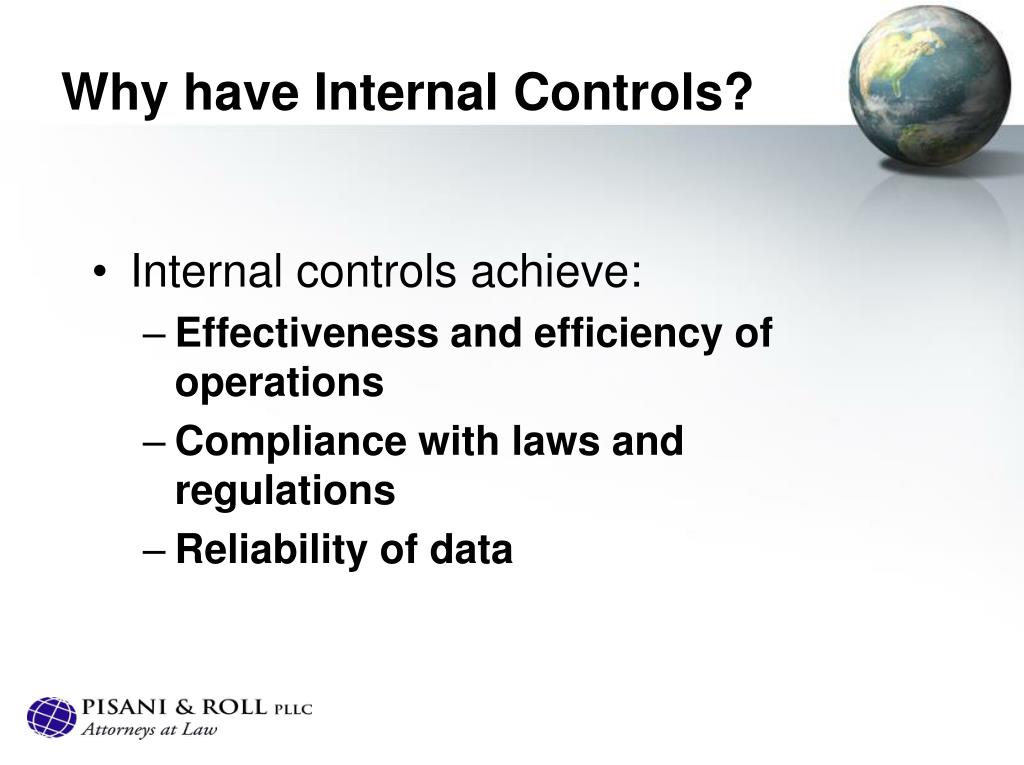 Why have Internal Controls?