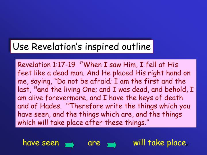 Use Revelation's inspired outline