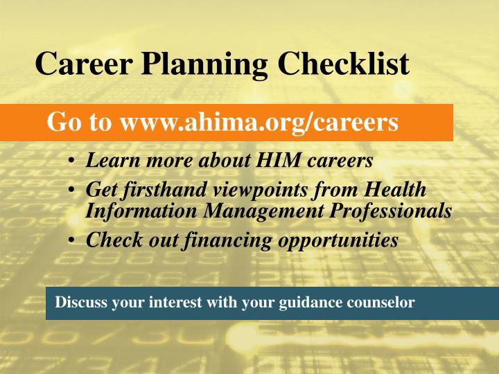 Career Planning Checklist