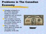 problems in the canadian economy