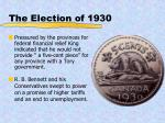 the election of 1930