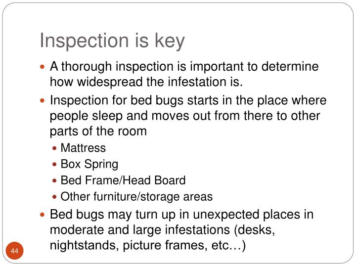 Inspection is key