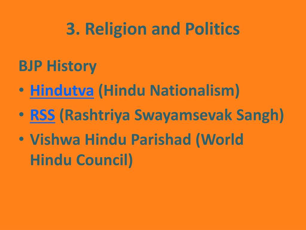3. Religion and Politics