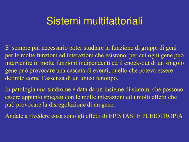 Sistemi multifattoriali