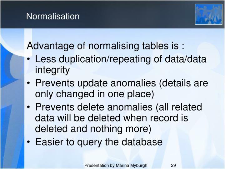 Normalisation