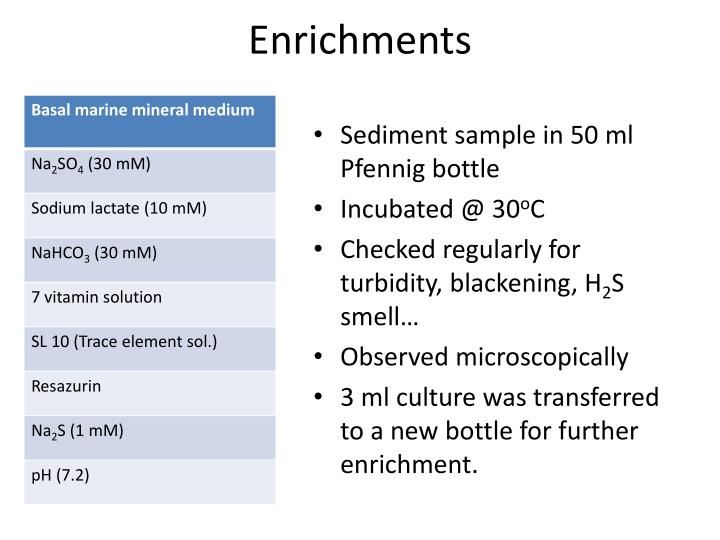 Enrichments