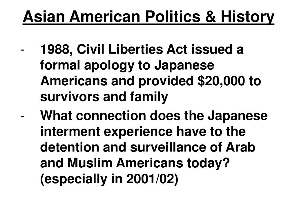 Asian American Politics & History
