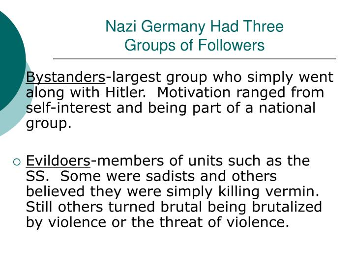 Nazi Germany Had Three