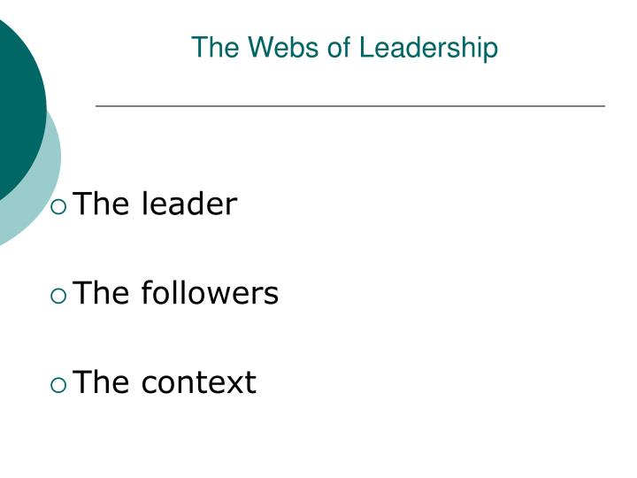 The webs of leadership
