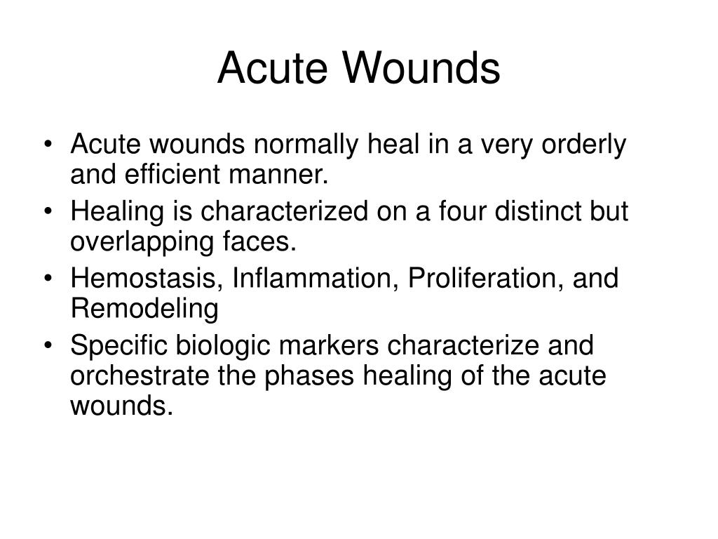 Acute Wounds