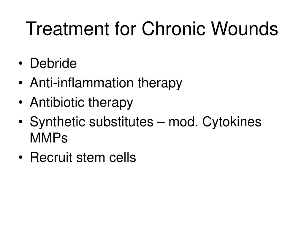 Treatment for Chronic Wounds