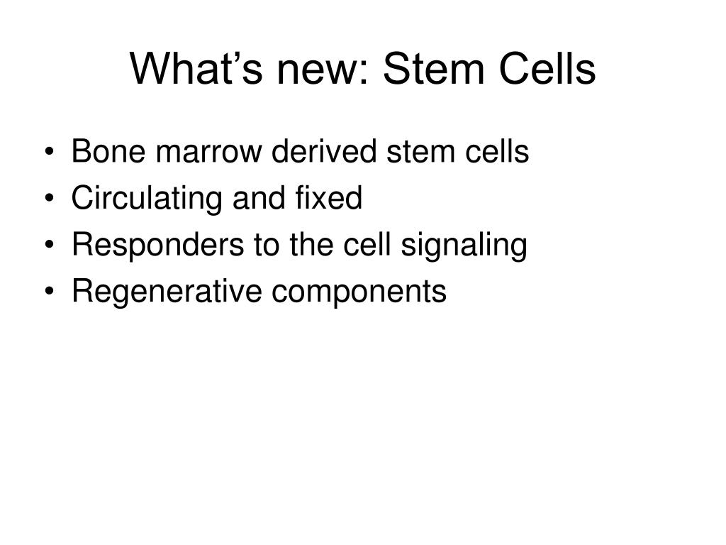 What's new: Stem Cells