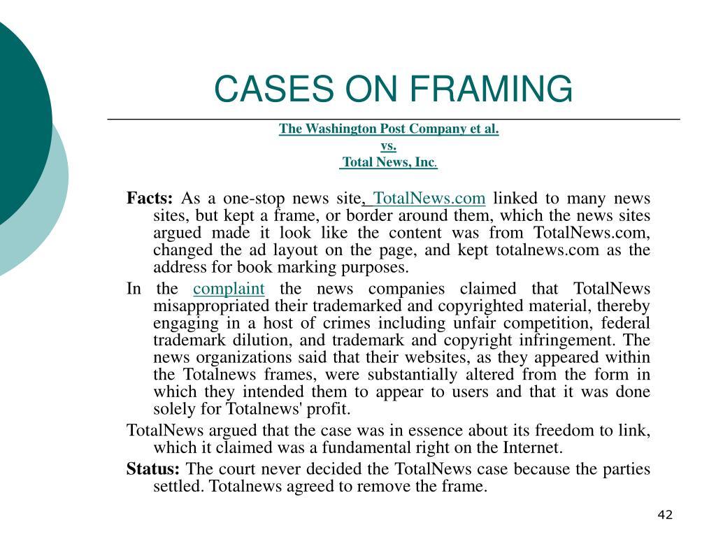 CASES ON FRAMING