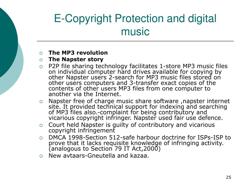 E-Copyright Protection and digital music