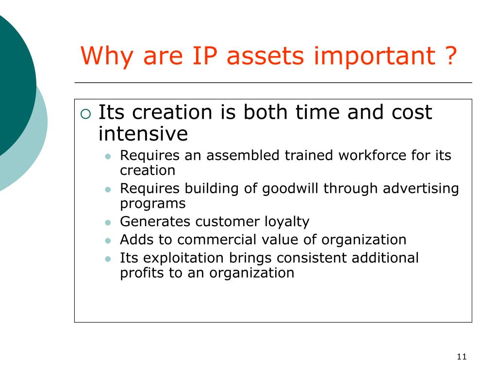 Why are IP assets important ?
