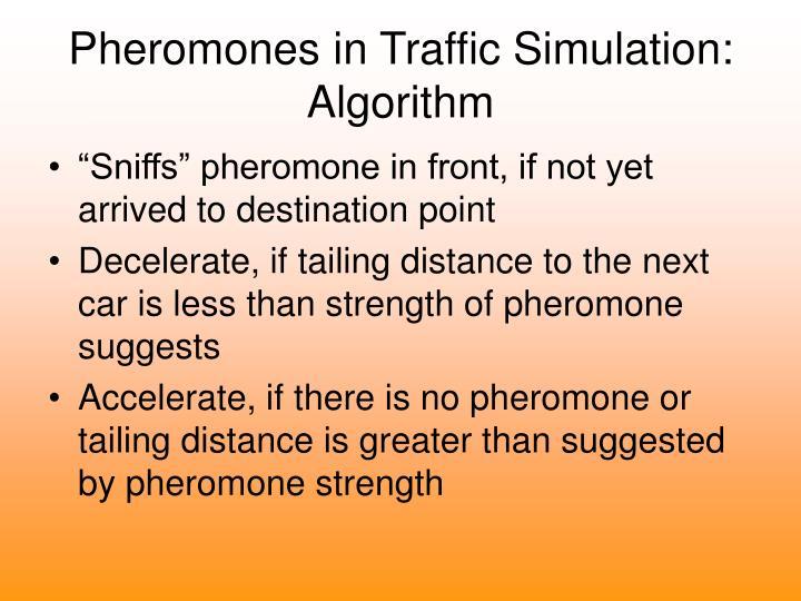 Pheromones in Traffic Simulation: