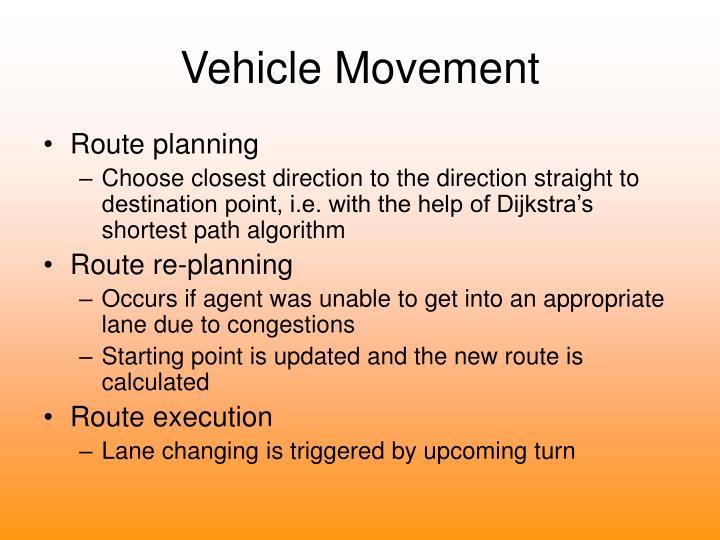 Vehicle Movement