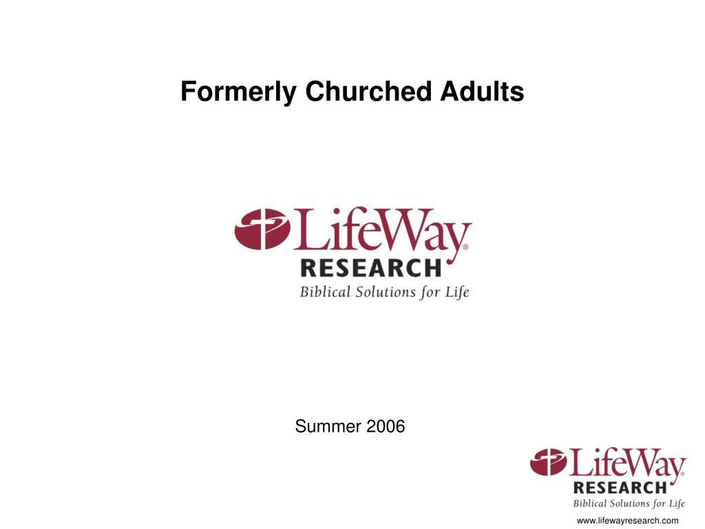 Formerly Churched Adults