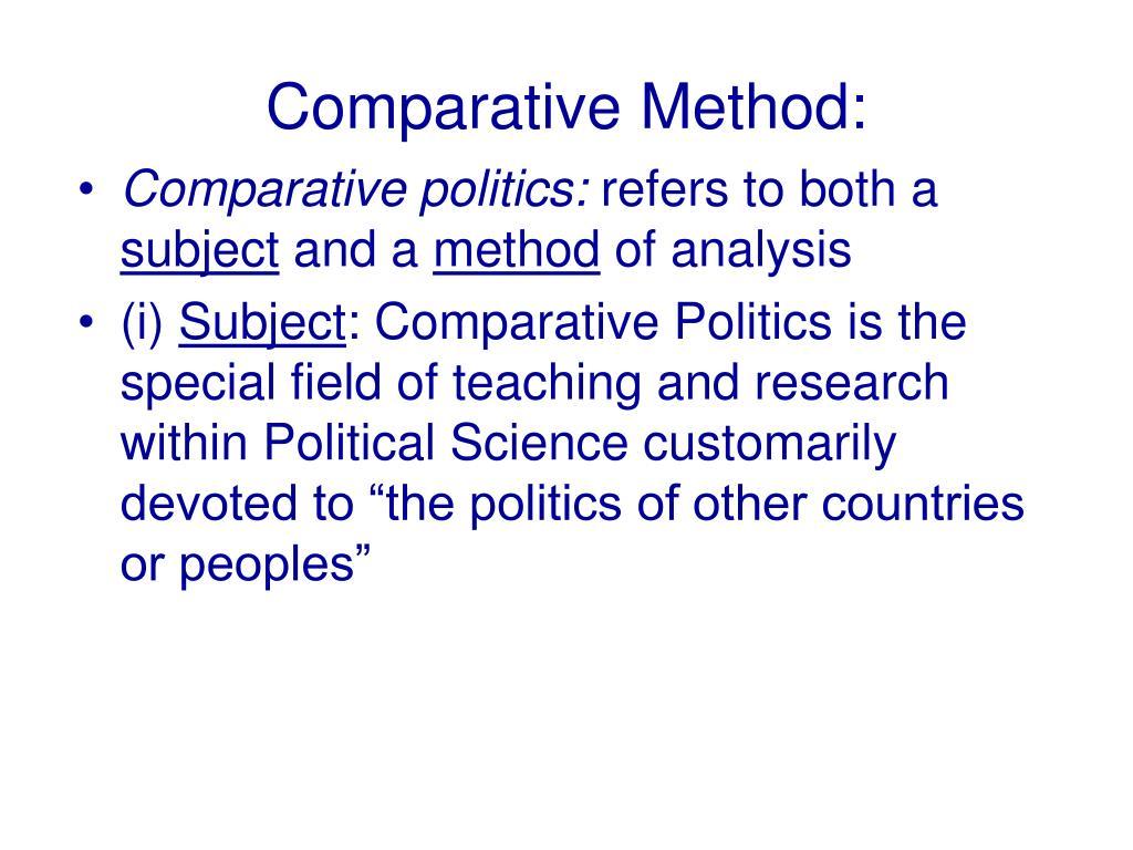 Comparative Method: