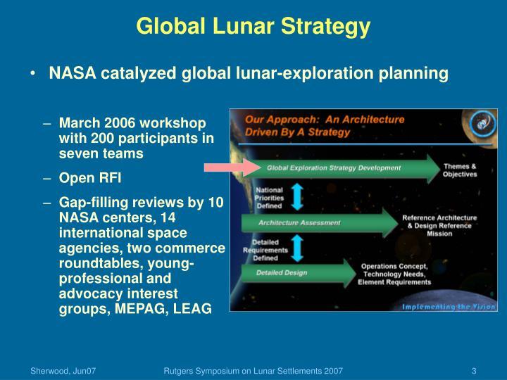 Global Lunar Strategy