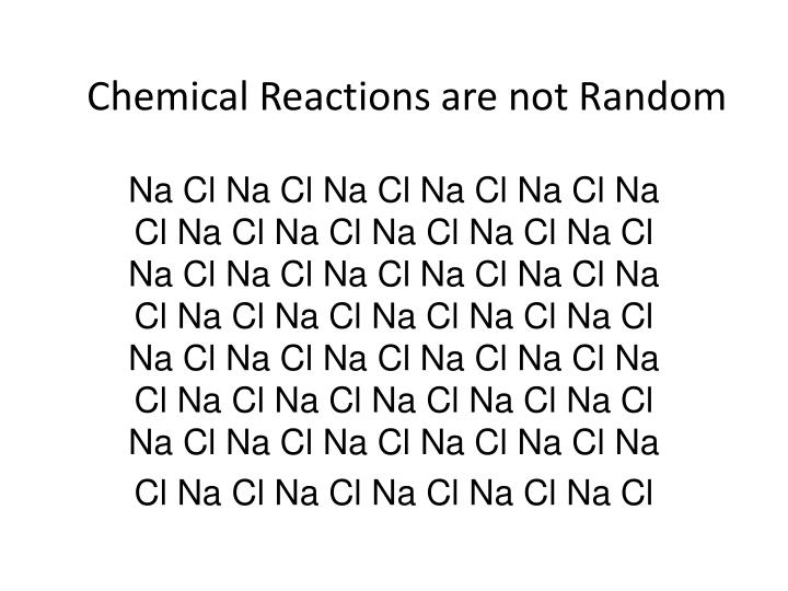 Chemical Reactions are not Random