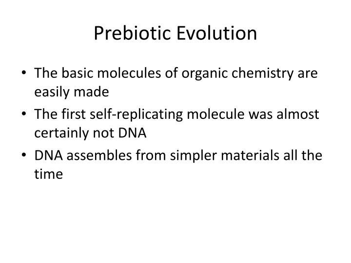 Prebiotic Evolution