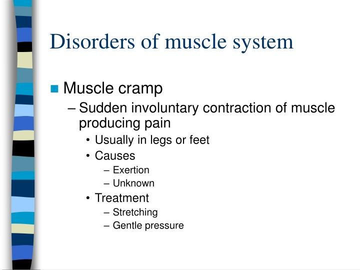 Disorders of muscle system