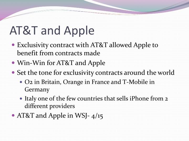 AT&T and Apple