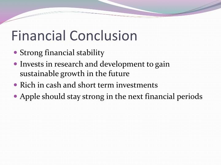 Financial Conclusion