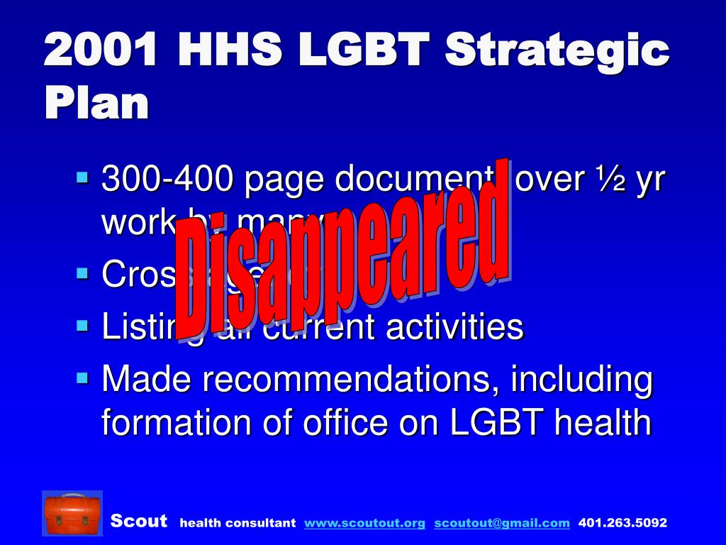 2001 HHS LGBT Strategic Plan