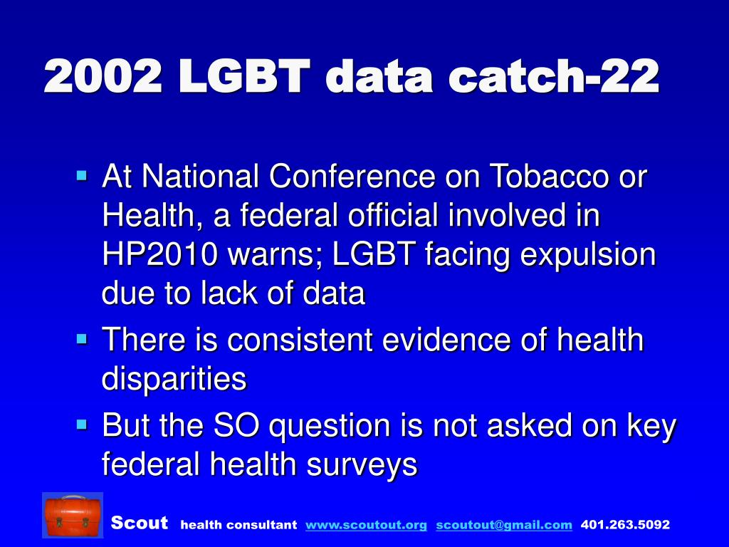 2002 LGBT data catch-22