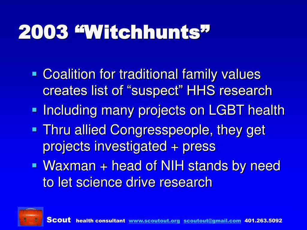 "2003 ""Witchhunts"""