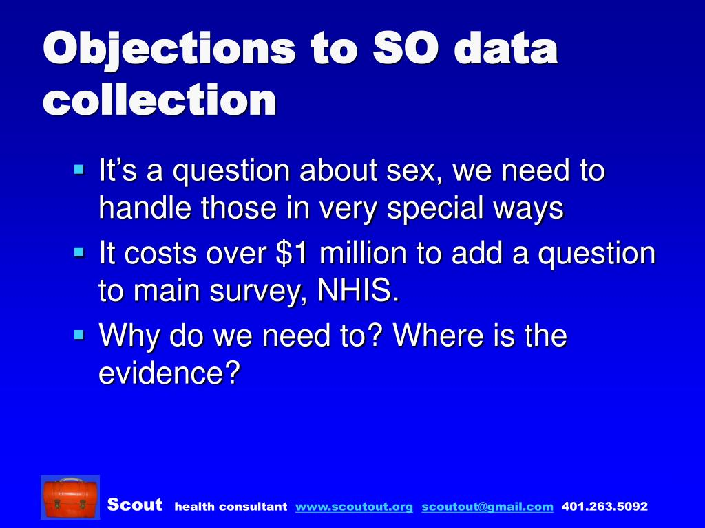 Objections to SO data collection